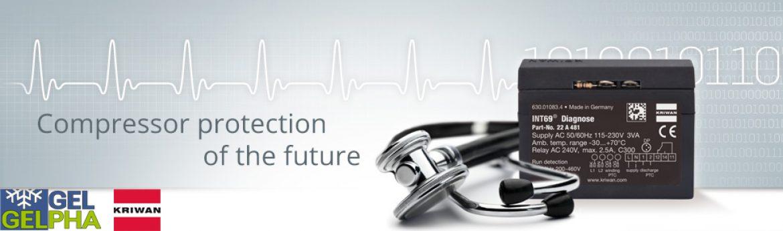Protección de motor con análisis de fallos KRIWAN INT69 G Diagnose